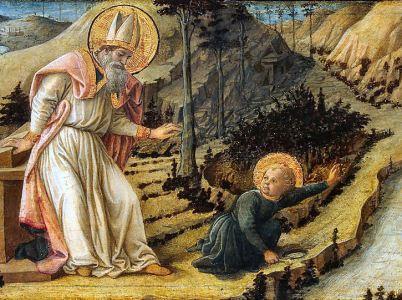 Sant'Agostino e l'angelo