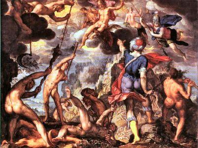 Due guerre tra generazioni divine: la Titanomachia e la Gigantomachia