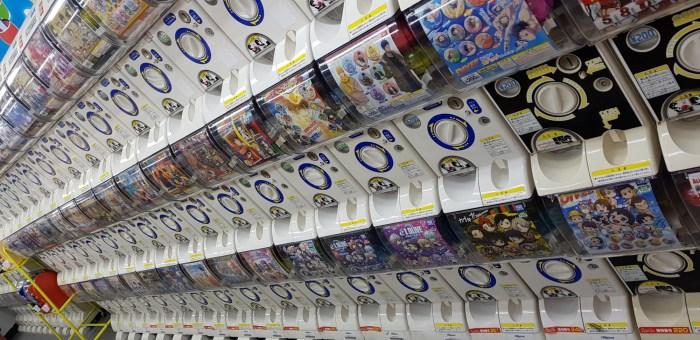 500 distributeurs de Gashapon dans un sous-sol de Shinjuku