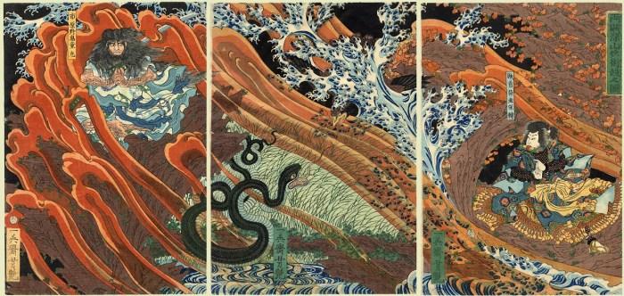 Estampes japonaises au musée de l'ukiyo-e à Harajuku