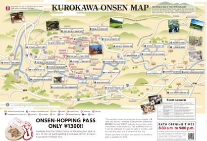 La carte des onsens