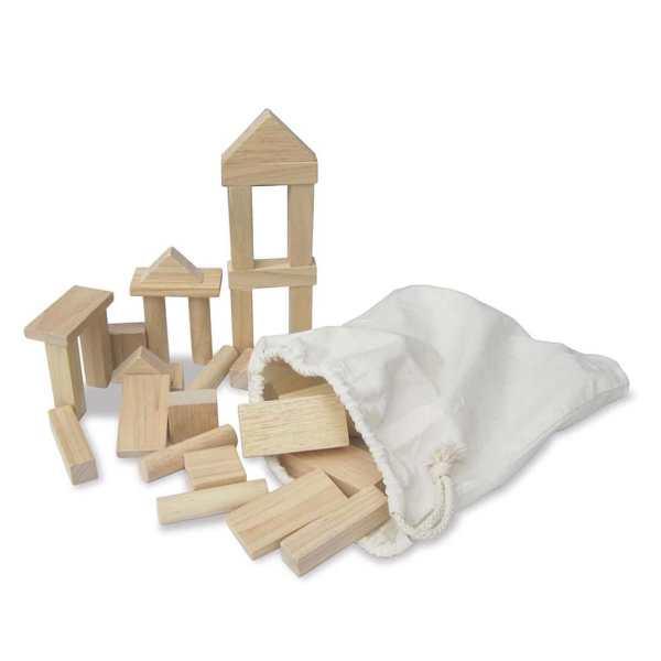 50 Wooden Natural Blocks 1