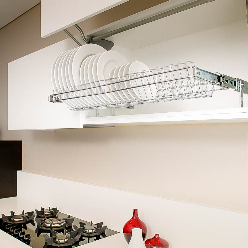 stainless steel pull out plate storage