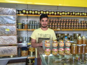 Traditional honey shop