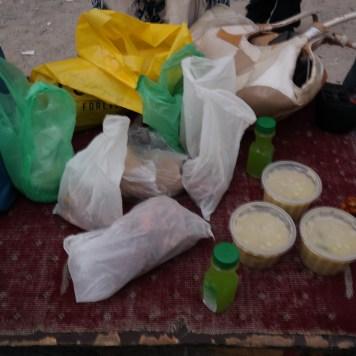 Biryani soup and snacks
