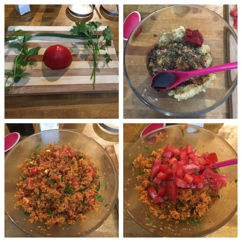 Step by step how to make Bulgur salad