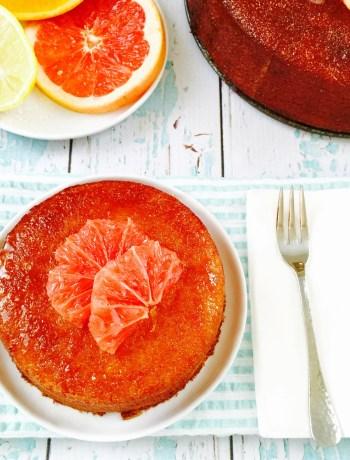 Bittersweet citrus semolina and almond cake