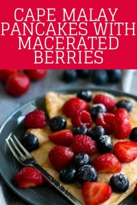 Cape Malay pancakes with Macerated berries