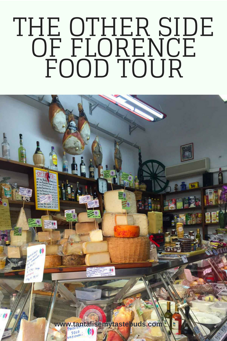 Cheese and salumi shop in Oltarno - Florence food tour