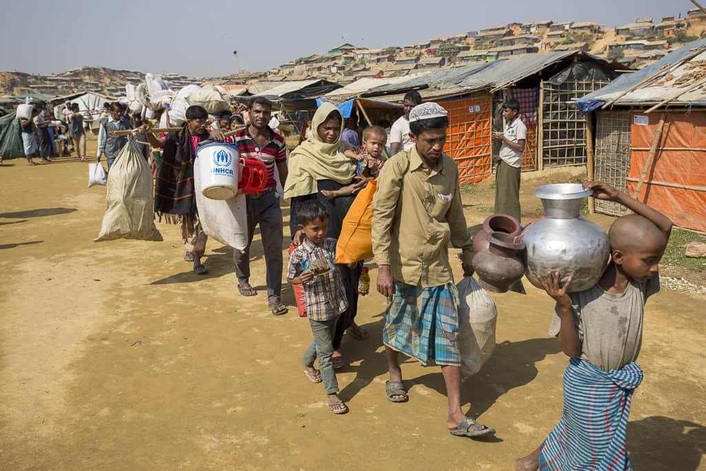 Rohingya refugees fled from persecution, rape and violence in northern Rakhine state Myanmar, seeking safety in Bangladesh in 2017.