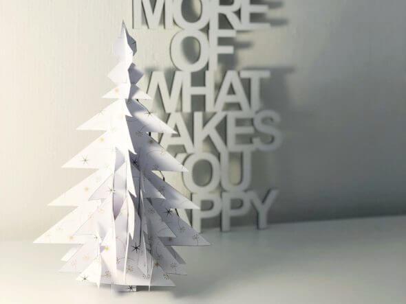 Kerstboom uit PaperCloud Christmas