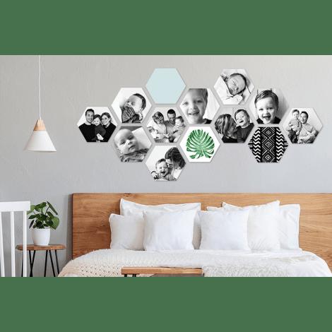 hexagons aan de muur