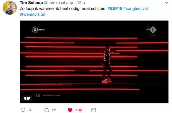 Zonder Twitter is het Songfestival niet te doen