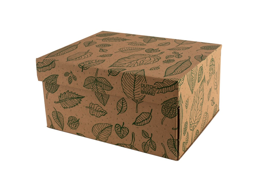 Dutch Design Storage-Box Natural Leaves 1