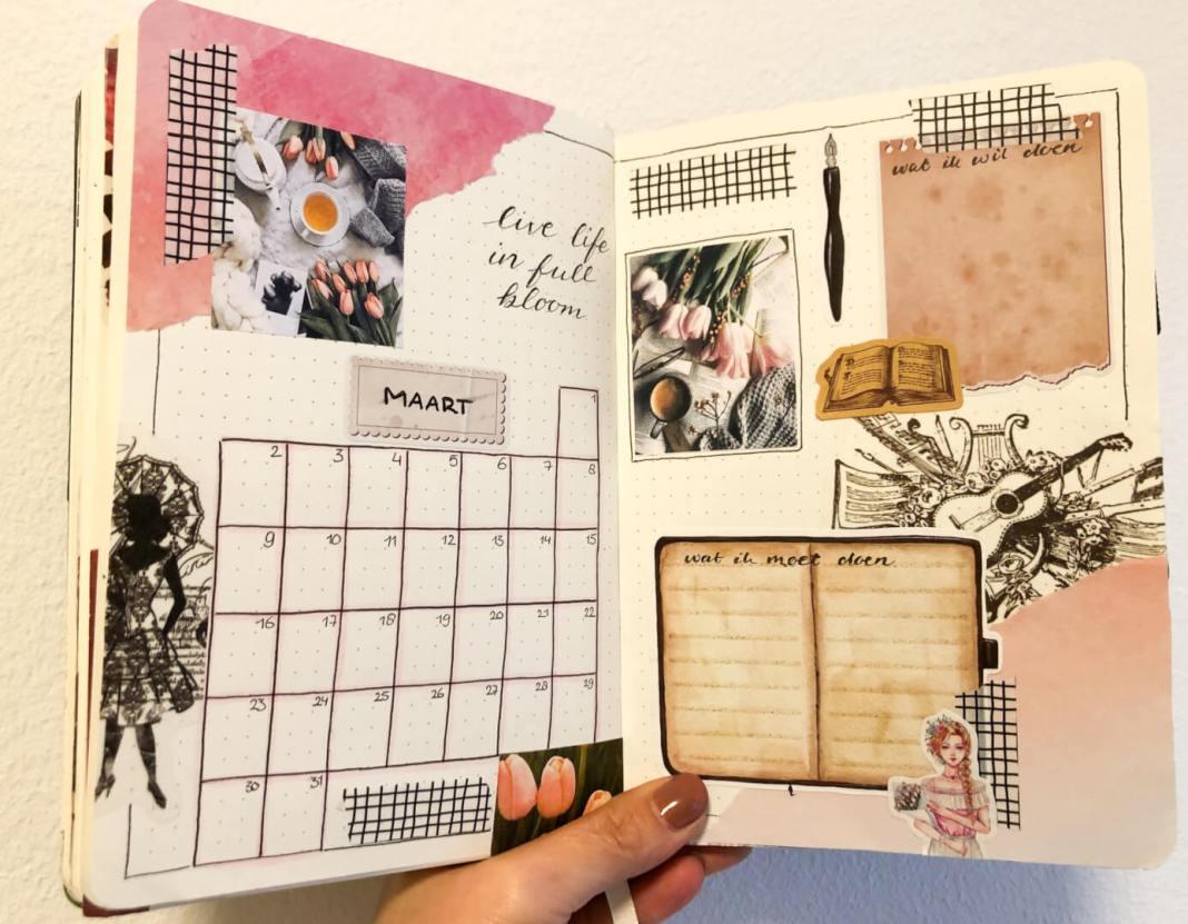 mijn maart bullet journal maandoverzicht
