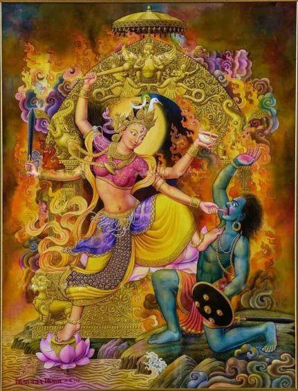 Bagalamukhi es la existencia misteriosa del aspecto opuesto en el que todo se disuelve