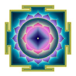 el órgano sexual femenino y el símbolo de la fuente suprema del Universo, y cuando el triángulo apunta hacia arriba