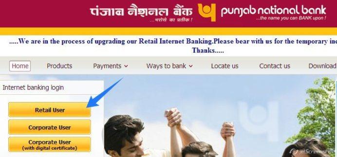 Recover Punjab National Bank internet banking password
