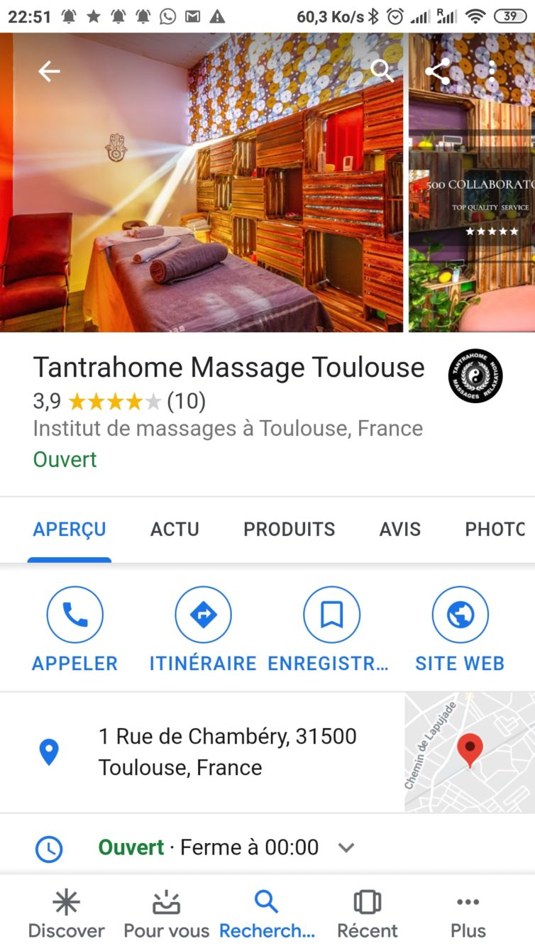 TantraHome Massage Toulouse
