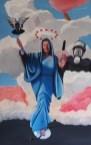 La vierge à l'herpès Huile sur toile, 2014