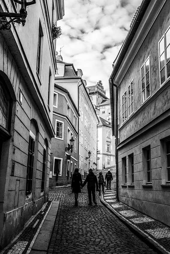 Prague Pold town street photographed by Fine Art Photographer Tanya Antalikova