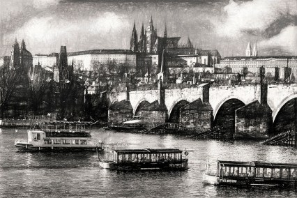Prague Castle and Charles Bridge photographed by Fine Art Photographer Tanya Antalikova