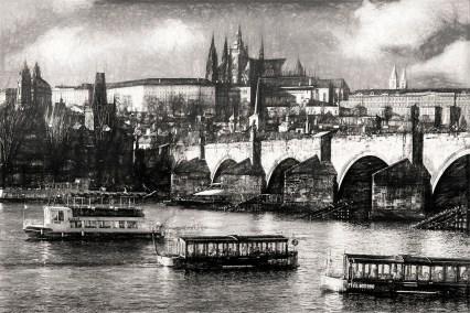 Prague Castle and Charles Bridge photographed by Fine Art Photographer Tanya Antalikova