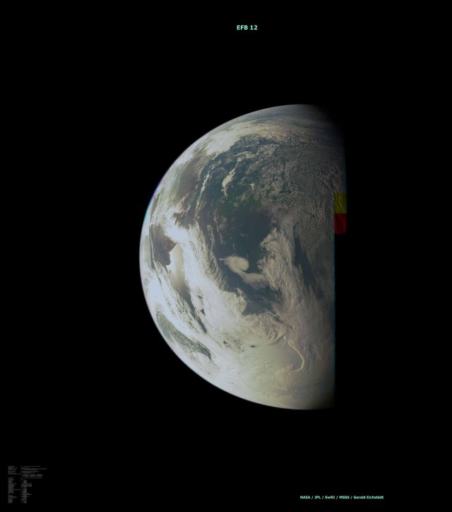 View of Earth from the Juno spacecraft during a gravity assist