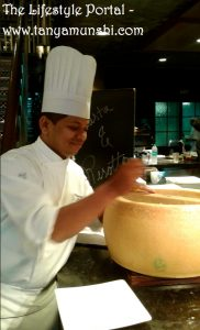 Chef Prasad at work_Risotto & Cheese