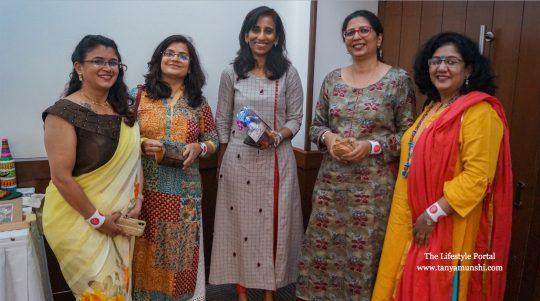 L-R: Entrepreneur super powers: Shridaa Raheja, Shweta Menon, Shalini Singh, Kainaaz Mehta & Sujata Rane