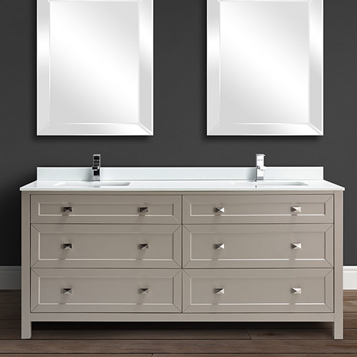 72 bedford double sink bathroom vanity available in different finishes