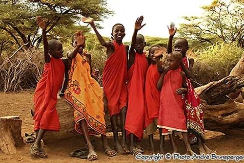 Enfants Masaïs Tanzanie