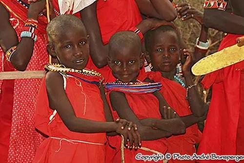Enfants Masaïs Ruaha Sud Tanzanie