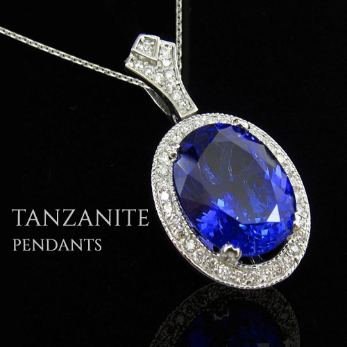 tanzanite pendant white gold