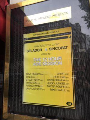 Sincopat vs Selador during Amsterdam Dance Event 2016