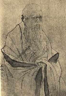 Lao-tze, Darstellung nach einem antiken Holzschnitt