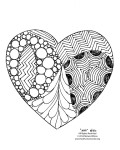 Image of a heart to color