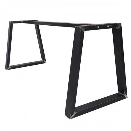 2x pieds de table en metal avec barre centrale en forme de trapeze trb8040 etape requise
