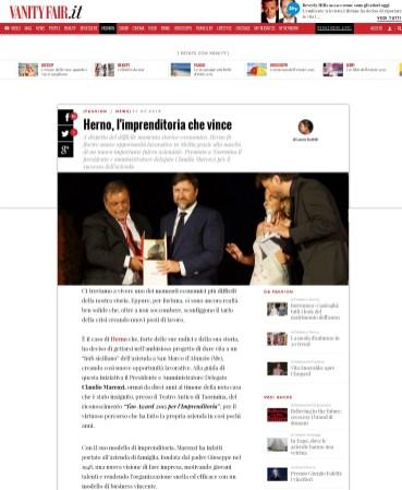 Herno, il presidente Claudio Marenzi riceve il premio Tao Award 2015 per l'Imprenditoria - VanityFair