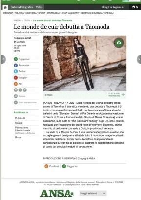 Le monde de cuir debutta a Taomoda - Sicilia - ANSA.it (2018-07-29 20-37-19)