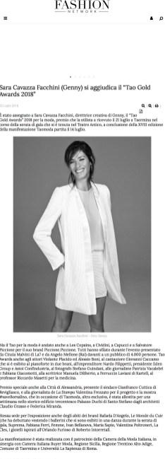 """Sara Cavazza Facchini (Genny) si aggiudica il """"Tao Gold Awards 2018"""" - Notizie -Creazione (#1000334) (2018-07-29 20-08-39)"""