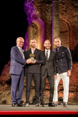 Lo stilista Salvatore Piccione per il brand Piccione Piccione premiato dalla famiglia Parisi, top buyers