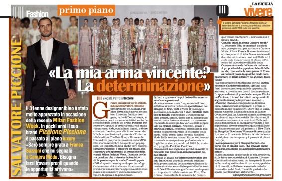 Vivere II-III 05_10_17 > Salvatore Piccione