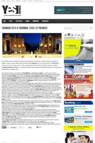 YESnews – TaoModa 2015 a Taormina, ecco i 22 premiati (1)