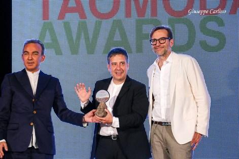 Claudio Cutuli premiato da Antonio Gallo e Mario Dell'Oglio