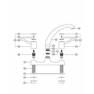 Lamona Lever Deck Mixer [TAP9022] from TapSpares