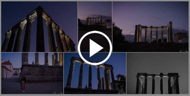 Álbum de fotografias do Templo Romano de Évora