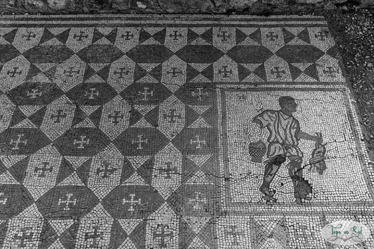 Painel de mosaico Romano