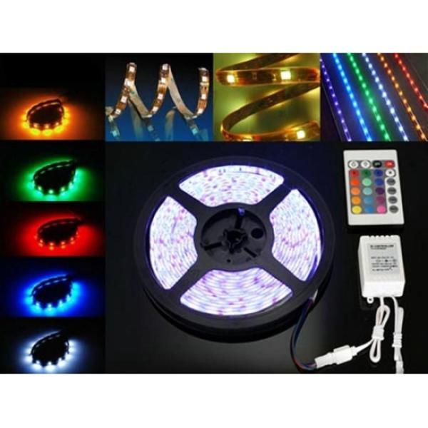 Πακέτο Λεντοταινίας 5 μέτρων με τροφοδοτικό, σύστημα επιλογής χρωμάτων και τηλεχειριστήριο - 12V - 5050 RGB 300LED