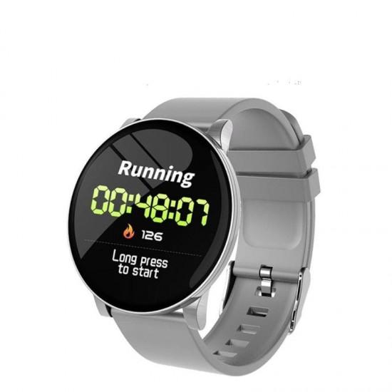 Smartwatch W8 Γκρι , με Μέτρηση πίεσης, Οξυγόνου αίματος, Καρδιακούς Παλμούς & Αθλήματα